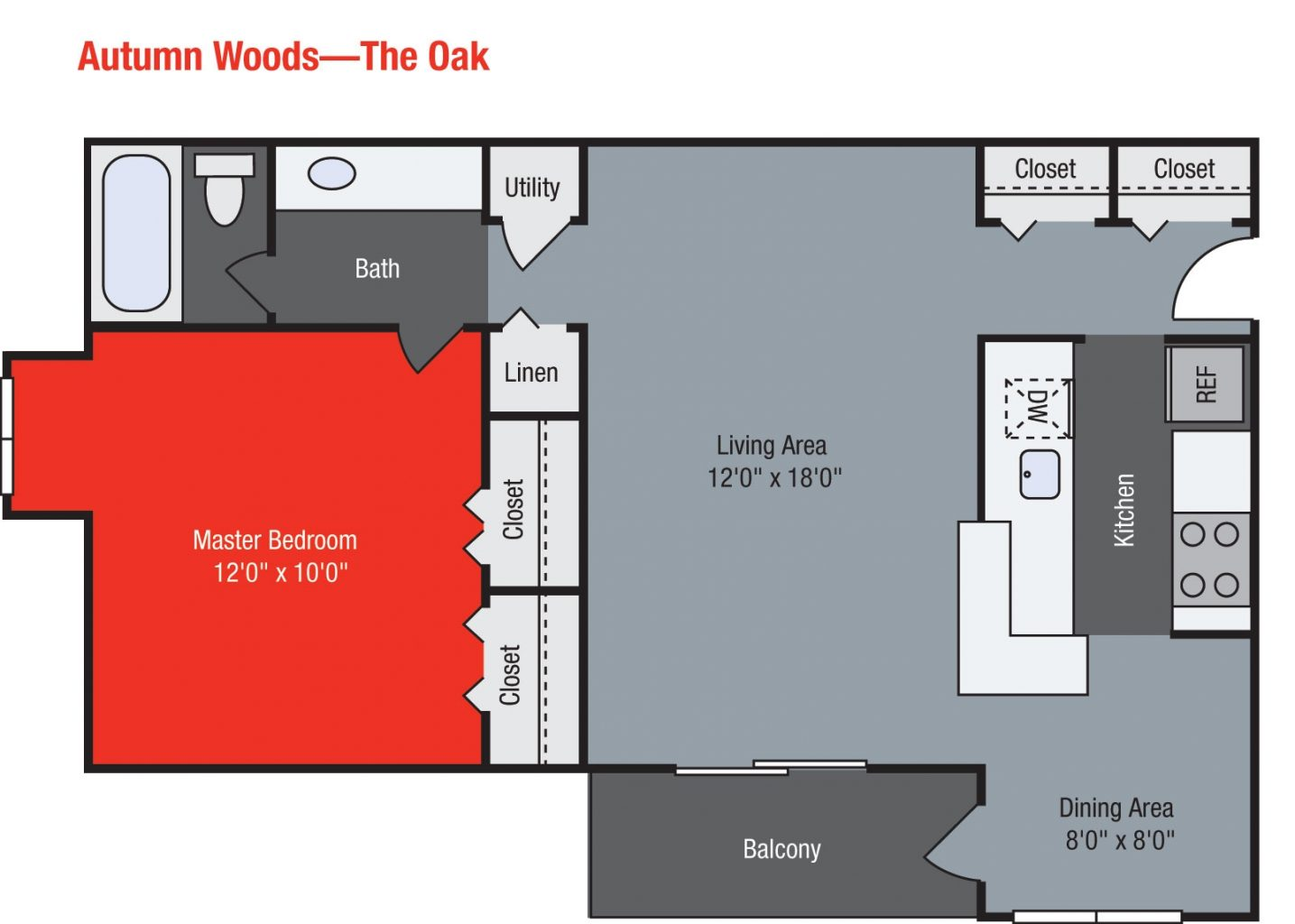 Apartments For Rent TGM Autumn Woods - Oak