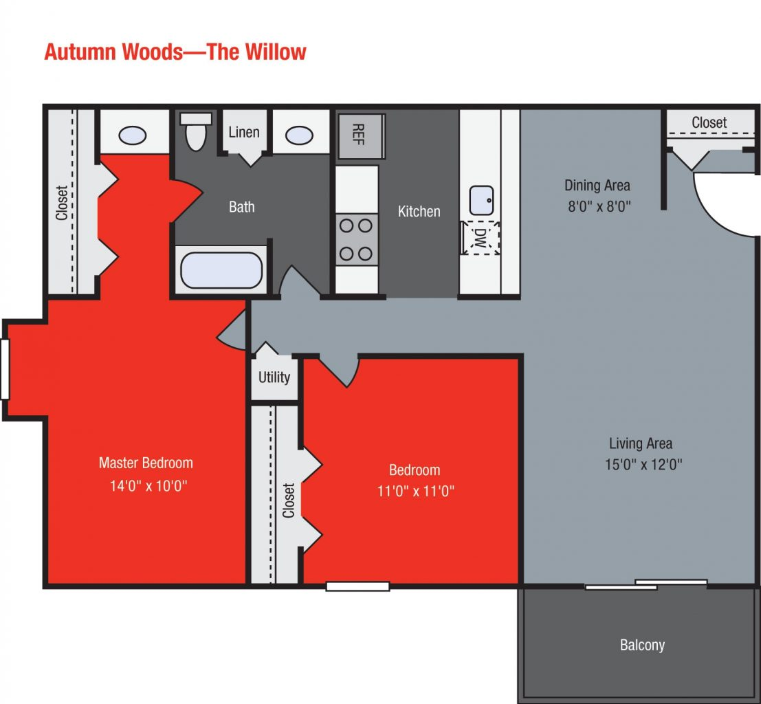 Apartments For Rent TGM Autumn Woods - Willow